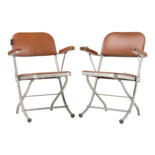 1940s Vintage Warren McArthur for Mayfair Industries Folding Chair- a Pair For Sale