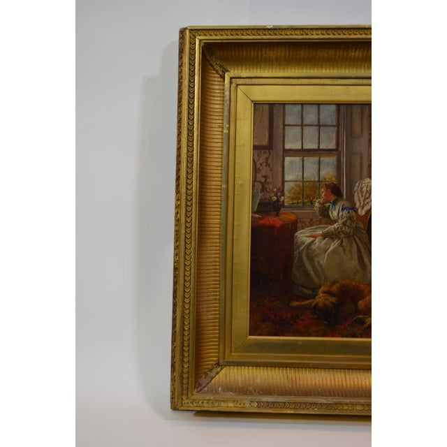 Purchased by designer Barry Goralnick from a dealer in Connecticut, this beautiful, golden-toned 19th-century painting of...