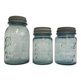 Vintage Ball Jars - Set of 3 For Sale