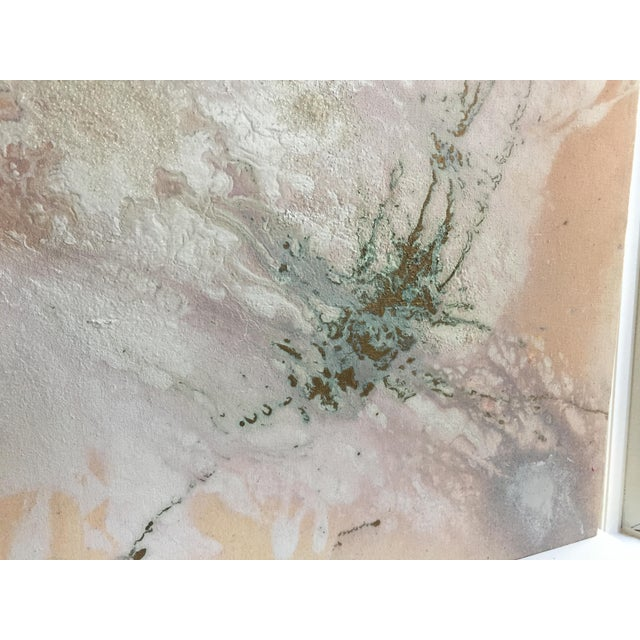 """Jacqueline Angove """"Peach Rose"""" Mixed Media Painting - Image 11 of 13"""
