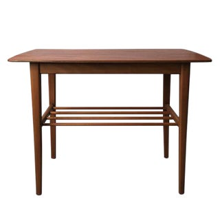 Vintage Teak & Beech Side Table