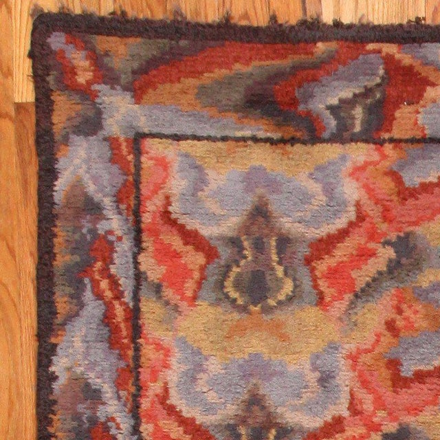 Mid-Century Modern Vintage Swedish Abstract Floral Rug - 10′ × 12′ For Sale - Image 3 of 8