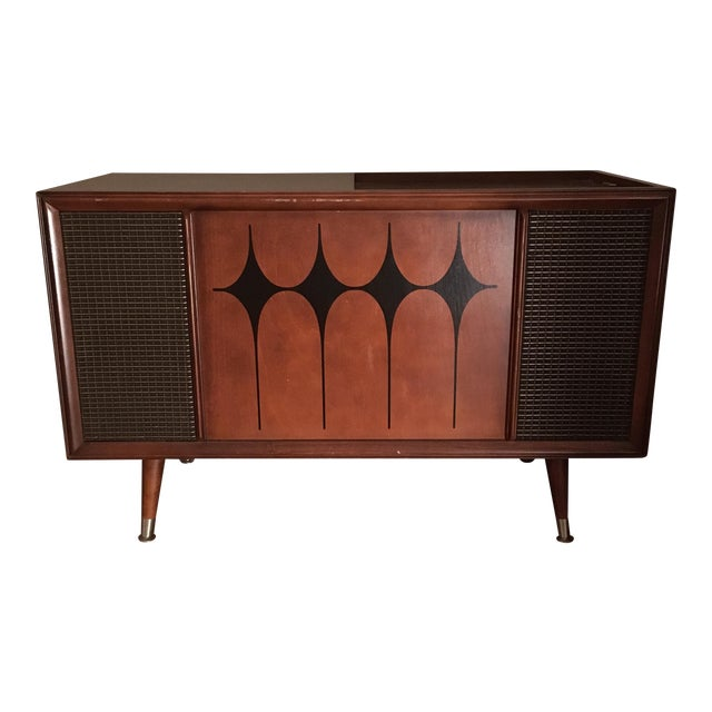 Vintage RCA Record Player Console - Image 1 of 10