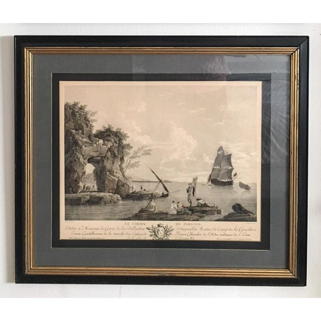 Antique French Nautical Engravings - a Pair For Sale - Image 4 of 12