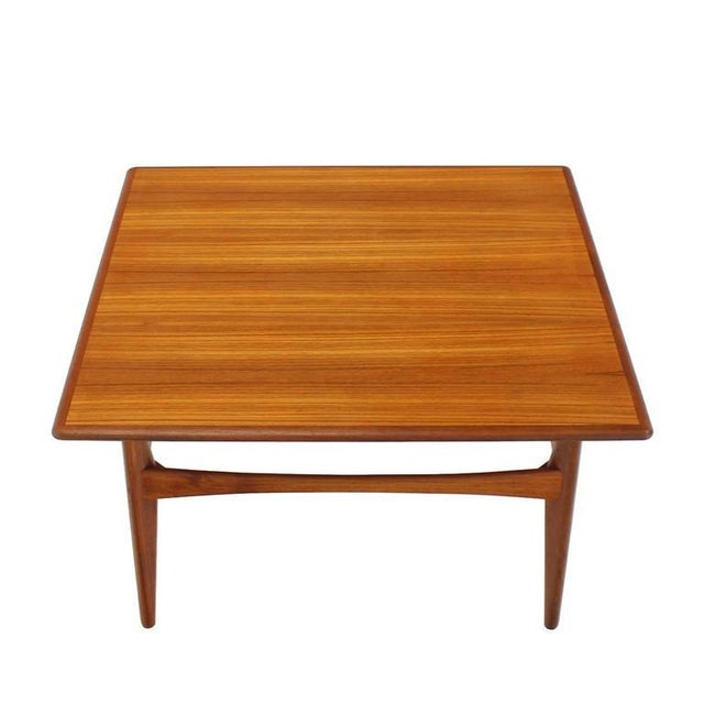 Mid-Century Modern Danish Mid-Century Modern Teak Square Coffee Side Table For Sale - Image 3 of 8