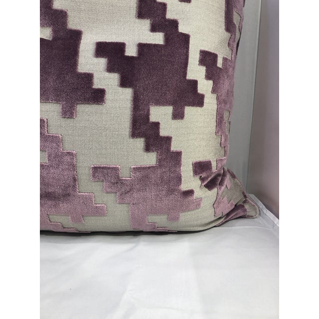 """Robert Allen 21"""" Square Robert Allen Pillow from Kenneth Ludwig Chicago For Sale - Image 4 of 8"""