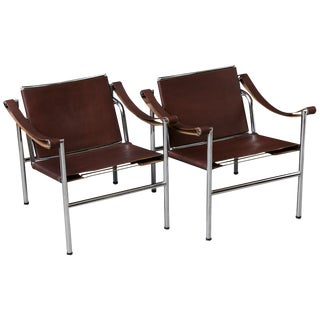 1960s Vintage Le Corbusier 'Corbu' 'Lc1', From Wohnbedarf Chairs - A Pair For Sale