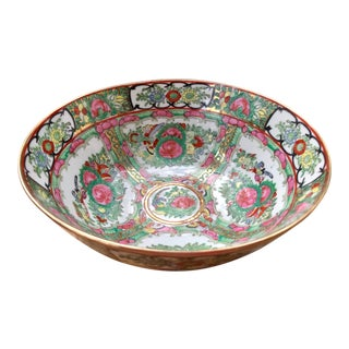 20th Century Chinese Porcelain Famille Rose Medallion Bowl For Sale