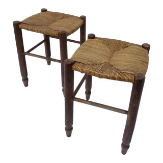 Charlotte Perriand Style Stools- A Pair For Sale