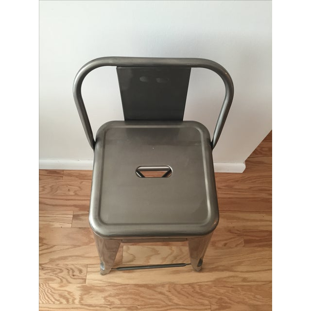 Tolix-Inspired Industry West Metal Counter Stools - Set of 3 - Image 6 of 7
