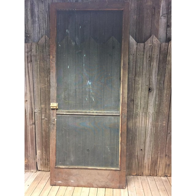 Country Screen Doors : Vintage brown country screen door chairish