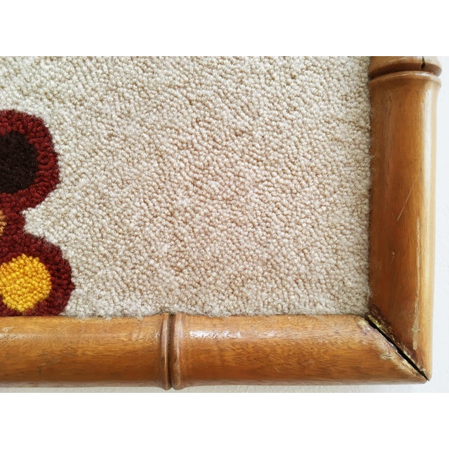 Yellow Luis Montiel Woven Rug Tapestry- 70s Botanical Textile Art For Sale - Image 8 of 9