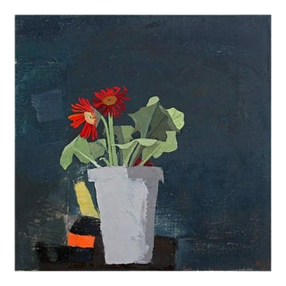 "Sydney Licht ""Still Life With Gerbera Daisy Plant"" Painting, 2018 For Sale"