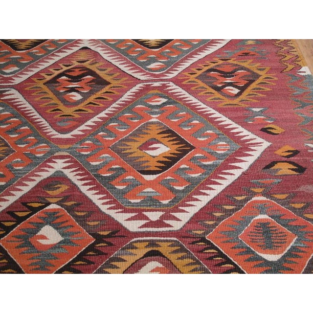 Textile Mut Kilim For Sale - Image 7 of 9