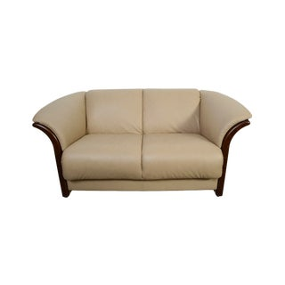 Modern Leather Ekornes Stressless Settee Sofa For Sale