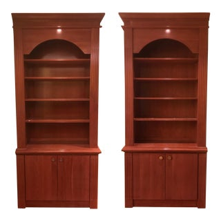 1980s Mid-Century Modern Custom Made Matching Wooden Shelving Units