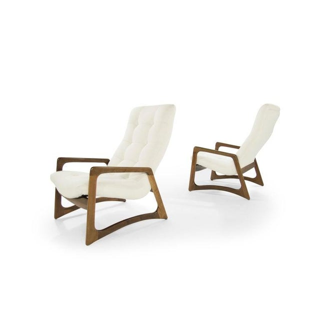 Mid 20th Century Sculptural Walnut Lounge Chairs by Adrian Pearsall for Craft Associates - a Pair For Sale - Image 5 of 13