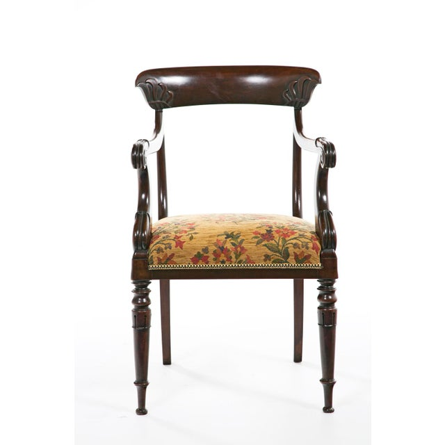 French Restoration Mahogany Armchair For Sale - Image 4 of 9