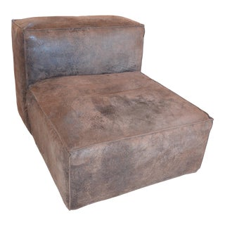 Modern Restoration Hardware Distressed Leather Chair For Sale