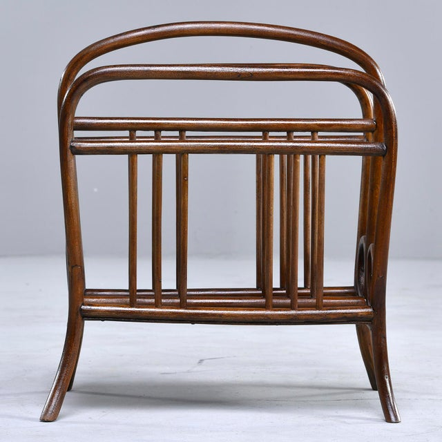 Art Deco Early Thonet Bentwood Magazine Rack For Sale - Image 3 of 12