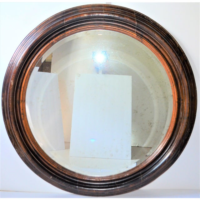 Baker Furniture Round Distressed Solid Maple Mirror For Sale - Image 11 of 11