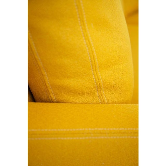 Yellow Milo Baughman Semi-Circle Sectional Sofa For Sale - Image 8 of 10