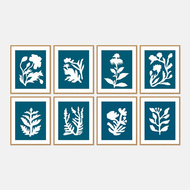Danube Sunprints Set of 8 by Neicy Frey in Gold Frame, XS Art Print For Sale - Image 10 of 10