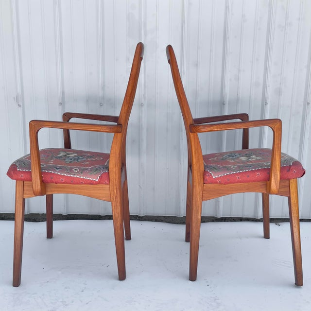 Mid-Century Modern Vintage Modern Teak Arm Chairs- a Pair For Sale - Image 3 of 13