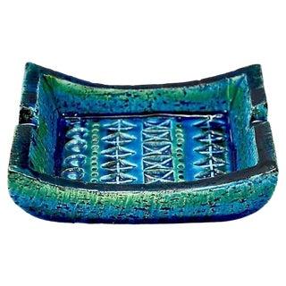 Small Bitossi Rimini Blue ashtray by Aldo Londi For Sale