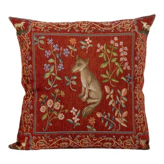 Scully & Scully Medieval Fox Tapestry Pillow Cover For Sale