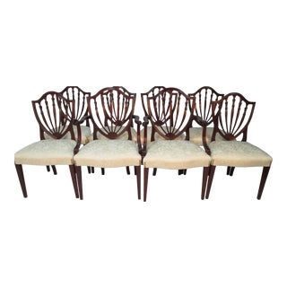 1930s Vintage Mahogany Chairs by Larson and Anderson- Set of 8 For Sale