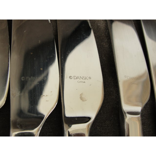 Dansk Meridian Stainless Flatware - 57 Pieces For Sale - Image 9 of 9