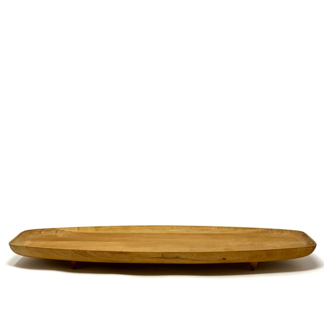 Mid-Century Modern Vintage Mid-Century Wooden Serving Tray For Sale - Image 3 of 7