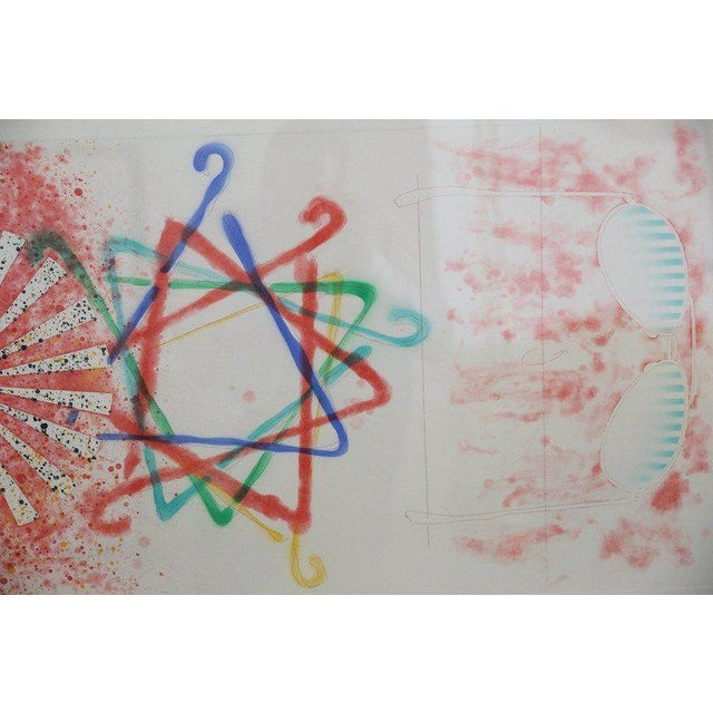 """Abstract Numbered 19 and Signed Print by Pop Artist James Rosenquist """"Number Wheel Dinner Triangle"""" - Image 5 of 6"""