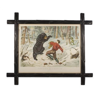 Black Forest Style Frame With Vintage Frontier Print