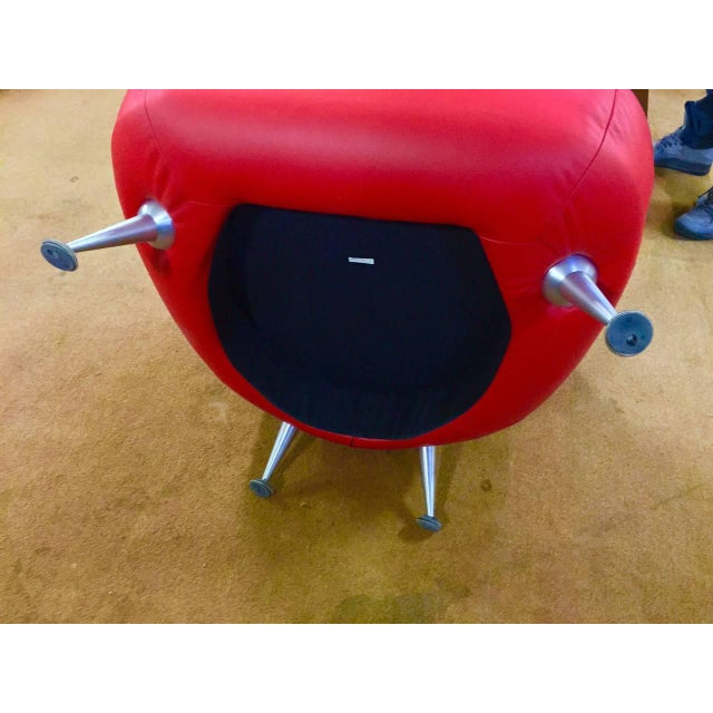 2000 - 2009 Mathias Hoffmann for De Sede Chair and Ottoman For Sale - Image 5 of 8