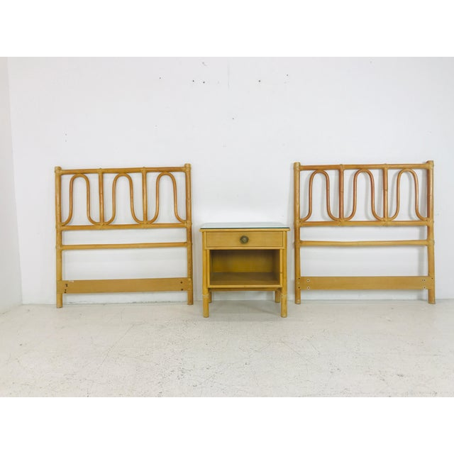 McGuire Twin Headboards Pair For Sale In Dallas - Image 6 of 8