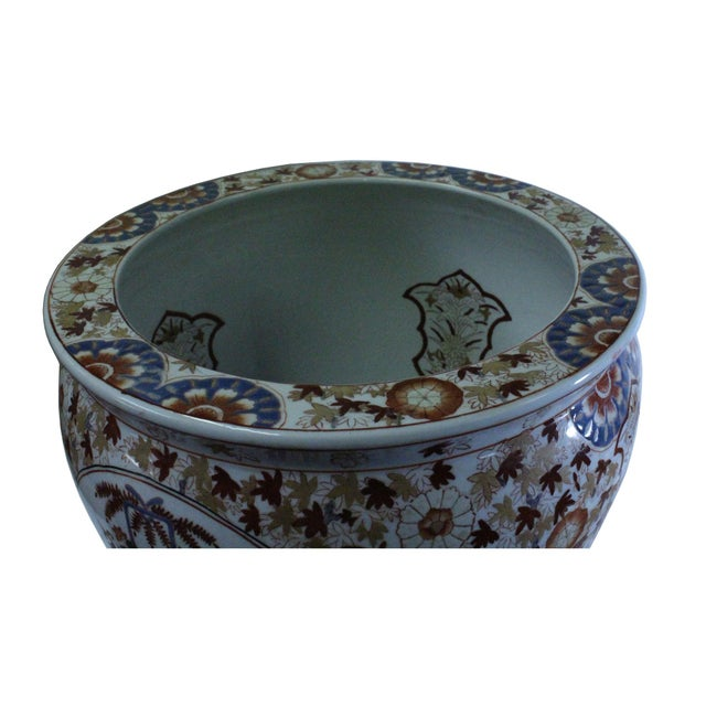 Chinese Oriental Vintage Porcelain Orange Imari Graphic Pot For Sale In San Francisco - Image 6 of 9