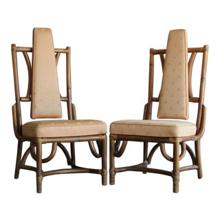 Single Sculptural Rattan Chair