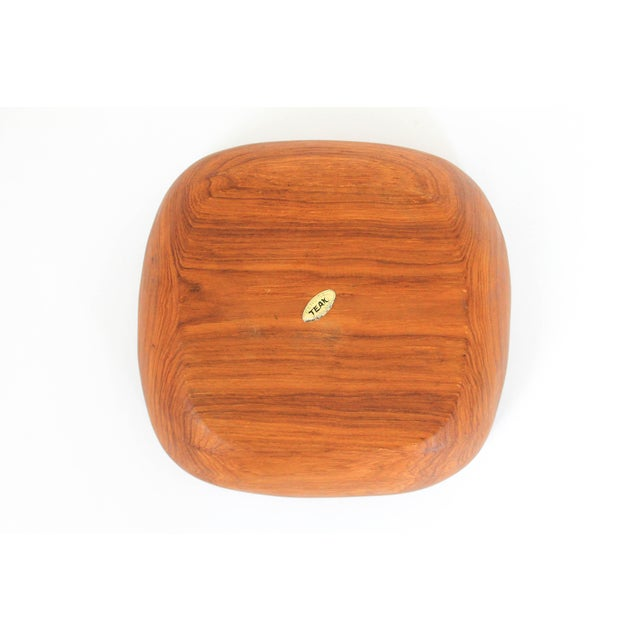 Boho Chic Square Teak Bowl For Sale - Image 3 of 5