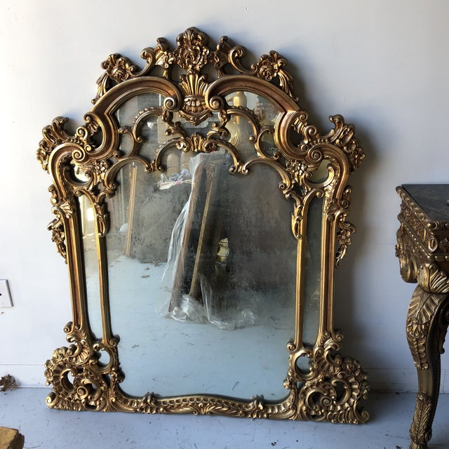 Rococo Gilded Wall Mirror For Sale In Atlanta - Image 6 of 6