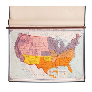 Vintage USA Social Science Map