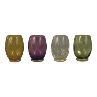 Vintage Mid Century Italian Water (Drinking) Glasses- Set of 4 For Sale