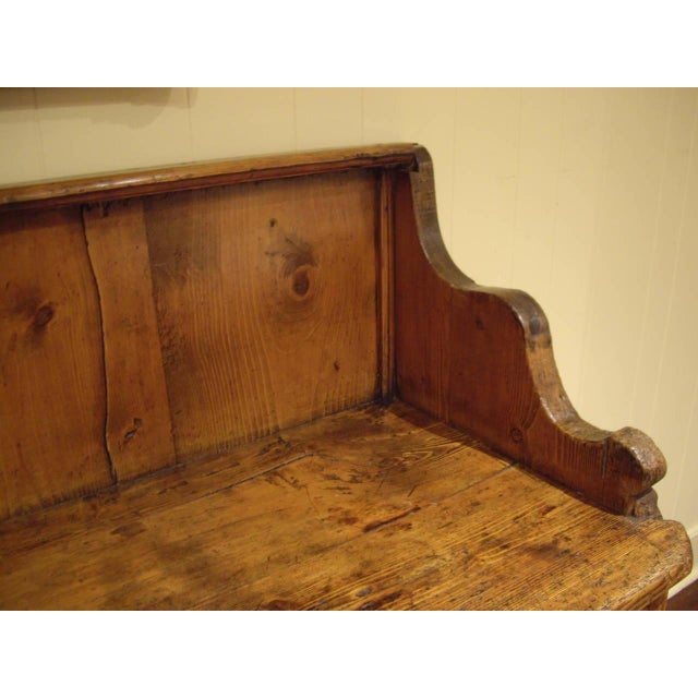 Wood Early 19th Swiss Rustic Kitchen Commode For Sale - Image 7 of 10