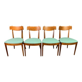 "Vintage Mid Century Modern Walnut ""Declaration"" Dining Chairs by Drexel- Set of 4 For Sale"