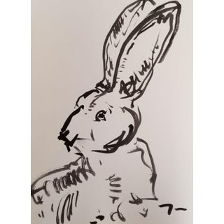 Jose Trujillo Abstract Expressionism Bunny 12 Ink Wash Painting For Sale