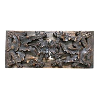 German Black Forest Hand Carved Bookshelf For Sale