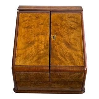 Antique English Walnut Postal Box For Sale