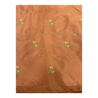 Scalamandre Embroidered Silk Taffeta Fabric For Sale