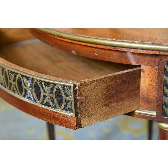 Swiss Walnut Center Table For Sale In West Palm - Image 6 of 10